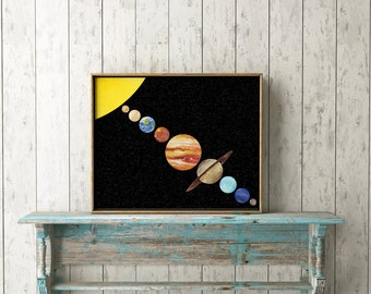 Solar System Print-Planets Print-Space Print-School-Kids Room Print-Solar System-Printable Art-Home Decor-Instant Download-Wall Art Decor