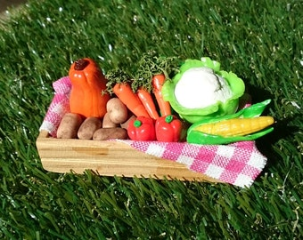 Polymer clay miniature  vegetables
