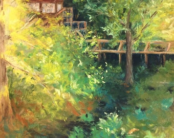 Cottage in the woods (unframed)
