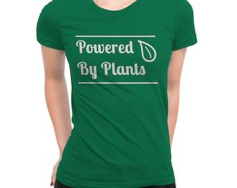 Cute Vegan T-Shirt | Vegan T-Shirt | Vegetarian T-Shirt | Veggie Shirt | Powered by Plants T-Shirt | Plant Powered T-Shirt