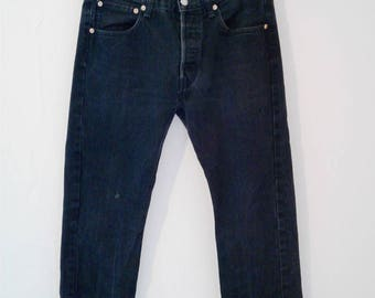 "Vintage Levi's 1980's Black 501 32"" skinny"