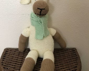 Knitted Alpaca Stuffed Animal Toy for Children