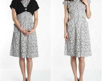 SALE - Cotton Dress Jacket & Belt 1960s