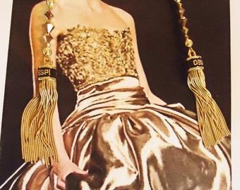 FIVE INCH Upgrade gold metal fringe  earrings  DESPI