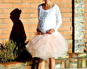 Maternity Tulle Skirt for Women-Tutu Skirt for Women-Tulle Skirt-Bridal Clothes-Hand Layered Bella Jolie Tulle Wrap Skirt-Chic Modern Bridal