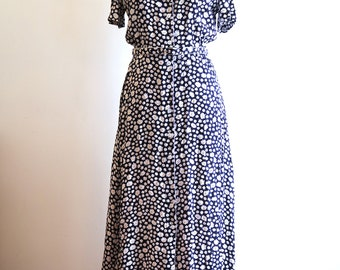 Liz Claiborne 80s / 90s CRAZY DAISY dress sz. Small / Medium