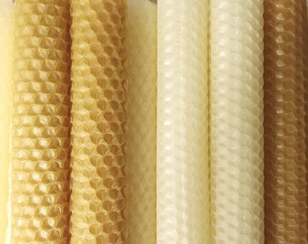Beeswax Candles, Set of 6 Tapered, Candles, Beeswax, Tapered Candle, Beeswax candles, Gifts
