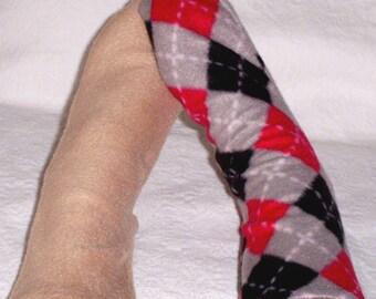 Women's Warm Handmade Plaid Socks, Beige Fleece Boot Socks,  Rain Boot Socks, Bed Sox, Camping Gear, Gifts under 10 Dollars, Gift for Mom