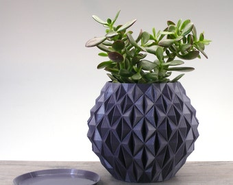 diamond pot geometric planter flower pot ornamental studded planter orb