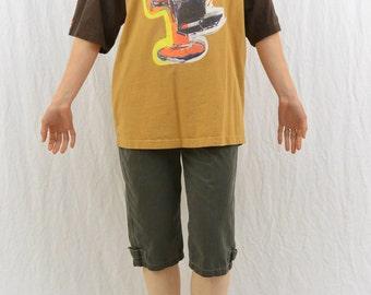Vintage Barbershop T Shirt, Hip Hop, Graffiti Style, Color Blocked, 90's T Shirt, Tumblr Clothing, Unique, Urban Style
