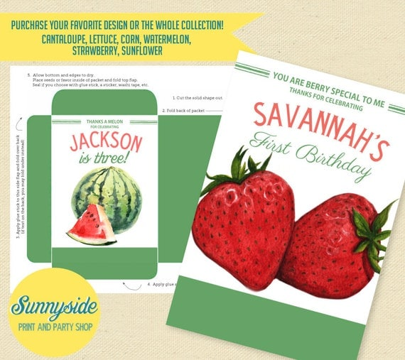 Personalized Vegetable Seed Packets For Farm Party, Birthday Favor With Fun  Garden Puns, Printable Seed Packets / Seed Envelopes