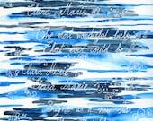 Custom quote art commission. Custom illustration. Custom Watercolor painting. Poetry art illustration. Custom painting