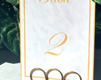 Wedding Table Number Holders, Wire Table Number Holders, Large Gold Table Holders, Wire Wedding Place Holders