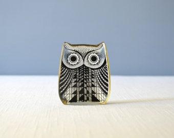 Vintage Small Abraham Palatnik Lucite Owl Figurine