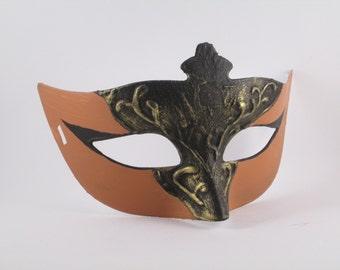Animal Masquerade Mask Orange Black Gold Costume Mask Reindeer Coseplay Domino