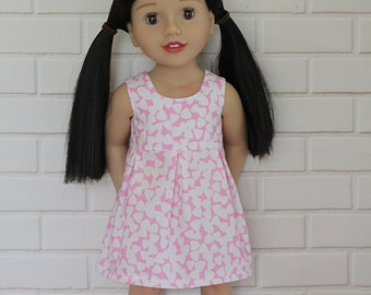 Light Pink Sleeveless Pleated Summer Dress Dolls Clothes to fit 18 inch dolls to 20 inch dolls such as American Girl & Australian Girl dolls