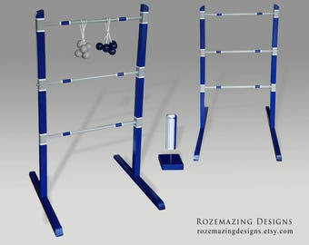 Custom Ladder Ball Game Perdsonalized Wedding Colors Custom made Yard Game Bolas and Wooden Ladders Portable Ladderball Bolaball