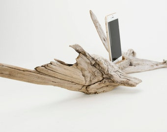 Docking Station for iPhone, iPhone dock, iPhone Charger, iPhone Charging Station, iPhone driftwood dock, wood iPhone dock/ Driftwood-No. 994