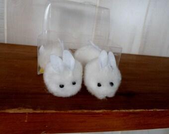 Easter Decoration Pom Pom Bunnies Cute Little Furry Craft Supply