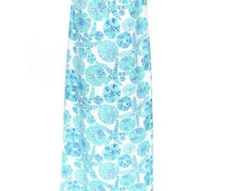 Lilly Pulitzer Dress /  Size Medium Maxi Dress Fully Lined Sea Urchin Pattern Halter Dress / Lilly Pulitzer Collection