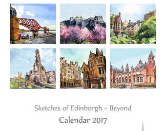 Calendar 2017 Edinburgh Sketches + Beyond