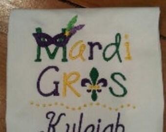 Mardi Gras Shirt - Mardi Gras Embroidered Shirt - Girls Mardi Gras Shirt - Mardi Gras Mask Shirt