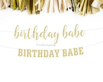 Birthday Babe, Happy Birthday Banner, Birthday Girl, Best Friend Birthday, Bestie Birthday, 1st Birthday, 30th Birthday, 40th Birthday