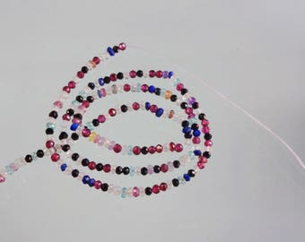 13.5-inch Disco Mix stones micro faceted beads size 2.5mm GW2813