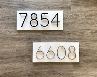 House numbers modern plaque