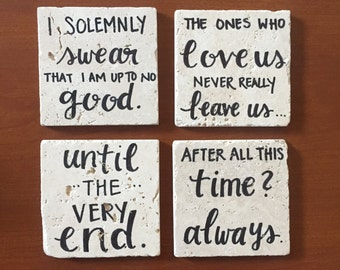 Harry Potter // Natural Stone Coffee Coasters