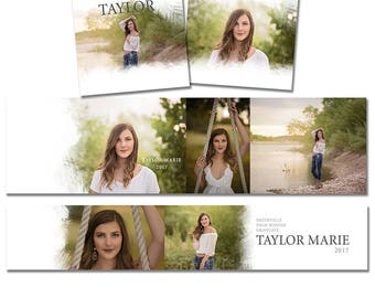 INSTANT DOWNLOAD - Neutral 3x3 Accordion Mini Template - Simple design - holds maximum amount of photos, Easy to use - Mpix, Millers - M001
