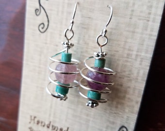 Orbiting--Amethyst and Turquoise