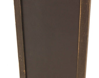 Country Rustic Vertical Chalkboard with Tray