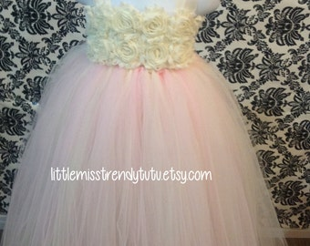 Blush Flower Girl Tutu Dress, Pink Flower Girl Tutu Dress, Light Pink Tutu Dress, Flower Girl Dress, Pink Tutu Dress, Weddings, Girls Tutu