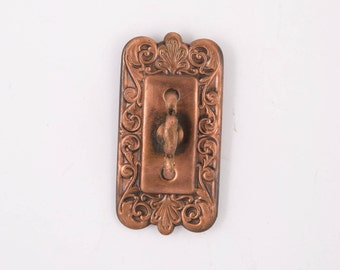 Antique Decorative Doorbell Turn Pressed Bronze