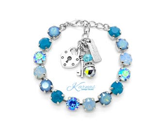 SEA OF OPALS 8mm Bracelet Made With Swarovski Crystal *Pick Your Finish *Karnas Design Studio *Free Shipping*