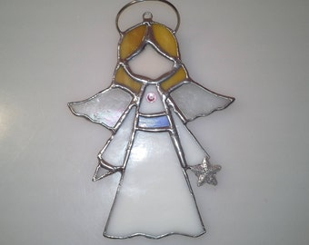 Stained Glass -Angel- Sun Catcher/Ornament-Customizable