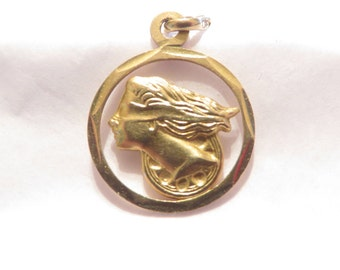 Beautiful Solid 14K Lady Of Justice Pendant