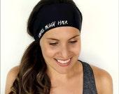 Yoga Headband - Embrace Messy Hair Print - Running Headband - Fitness Headband - Fitness Apparel - Workout Headband