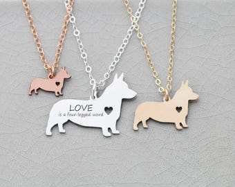 SALE • Corgi Dog Charm Necklace • Welsh Corgi • Pet Jewelry •Personalize Dog Breed •New Dog •Custom Pet Necklace •Animal Rescue •Dog Charity