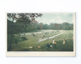 Tennis Courts, Central Park New York NY Postcard 1910