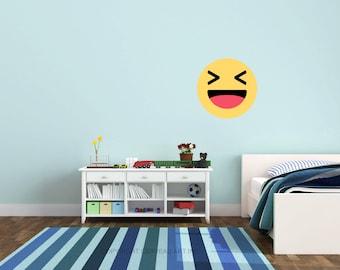 Emoji Decal - Emoji Party - Social Media Party - Haha Emoji - Emoji Birthday - Emoji Decor - Social Media Decal - Emoji Decorations