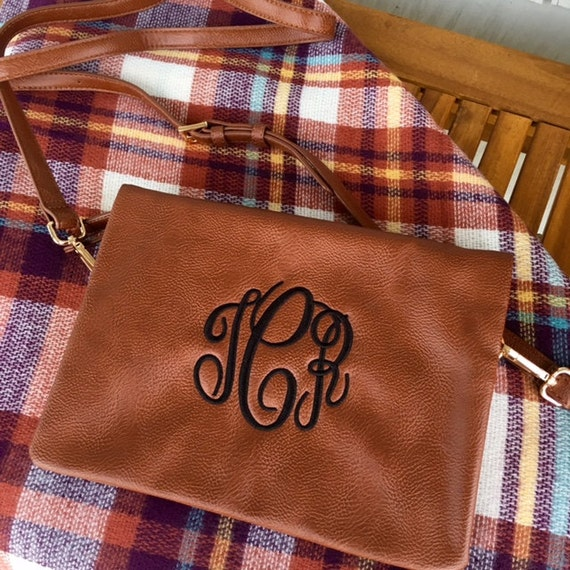 Monogrammed Purse, Crossbody Purse, Monogrammed Bags, Camel Purse, Tan Crossbody Purse, Faux Leather Purse, Bridesmaids Gift, Gifts for Her