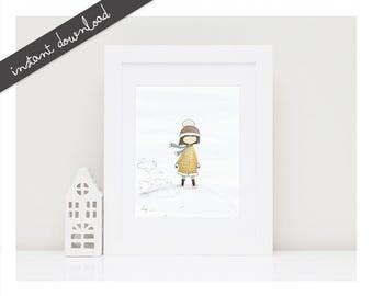 Girls Room Wall Decor-Printable Nursery Art''Ava''-Baby Nursery Decor-Nursery Art-Kids Wall Art-Kids Print-Kids Poster-Instant Download