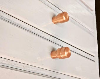 Copper Handle Copper Handles Copper Knobs Drawer Knobs And Pulls Cabinet Knob Hardware Furniture Knob and Pull Polished Copper Knobs