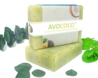 Eucalyptus & Spearmint Soap, Natural Soap, Vegan Soap, Bar Soap, Essential Oils, Cold Process Soap, Coconut Milk Soap, Handmade Soap