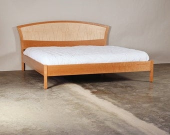 king size bed frame king size headboard platform bed handmade wood bed - Wood King Size Bed Frame