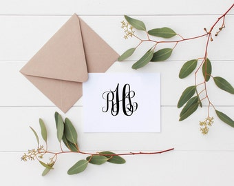 Personalized Monogram Note Cards | Custom Stationery | Personalized Thank You Notes | Gift for Her | Gift for Mom