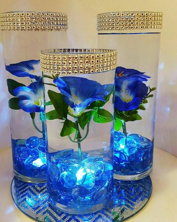 Wedding centerpiece floating flower led lights