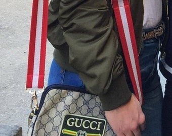 Vintage Authentic Gucci Monogram Bag with Custom Designer Patches